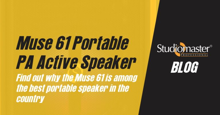 Here's why Muse 61 is the Best Powered Portable PA Speaker by Studiomaster Professional in India